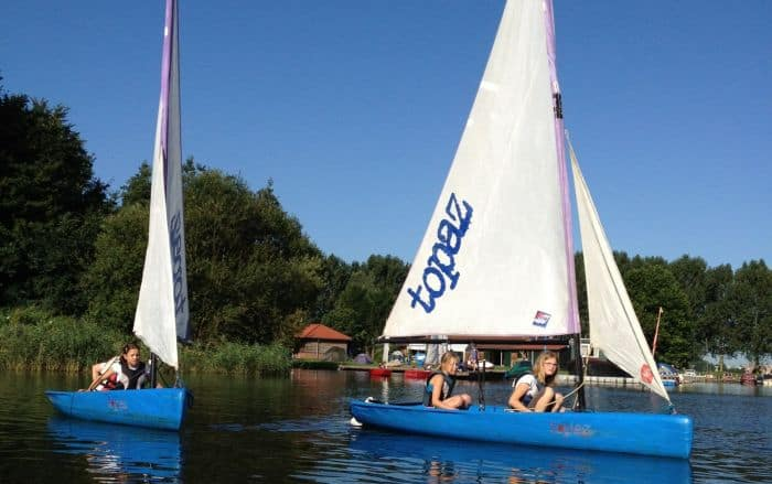 zwaardboot zeilen