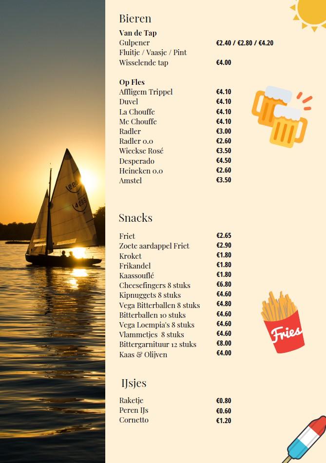 menukaart Haddock
